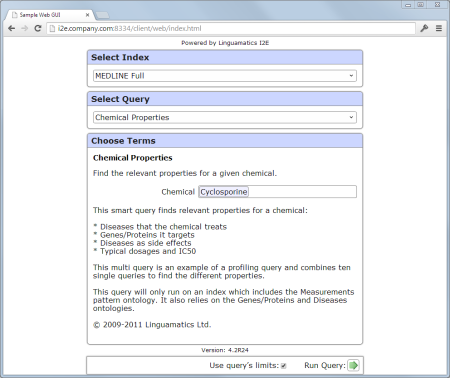 I2E Sample Web GUI