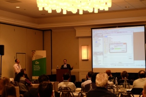 Guy Singh and Andrew Garrow presenting on Cortellis Informatics Clinical Text Analytics for I2E