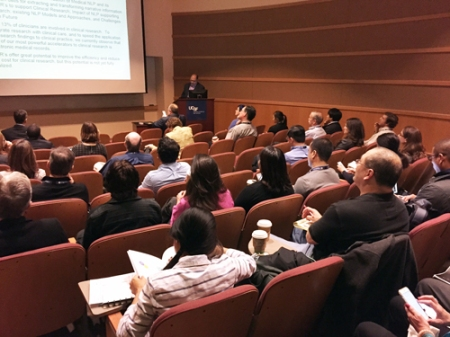 Sorena Nadaf at the NLP & Big Data Symposium in San Francisco.
